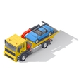 Vehicle tow truck transporting on board a broken vector image