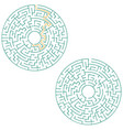 circular labyrinth with an answer puzzle vector image