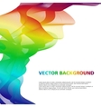 Colorful wavy abstract background vector image