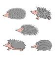 hedgehog hand drawn vector image
