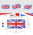 Union Jack flag with precise scheme vector image