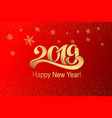 2019 greeting inscription for postcard poster vector image