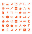 49 geometric icons vector image vector image
