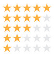 5 star rating icon eps10 5 star vector image vector image