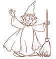 A simple sketch of a wizard vector image vector image