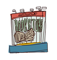 A view of bookstore vector image vector image