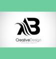 ab a b creative brush black letters design