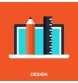 abstract design flat concept vector image vector image