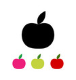 apple in different colors vector image vector image