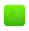 arrow download file icon green vector image vector image