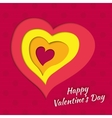 background on Valentines Day with layered heart vector image vector image