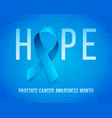banner for prostate cancer awareness month in vector image vector image