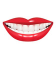 beautiful mouth smile and teeth medical vector image