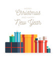 big pile colorful wrapped gift boxes vector image