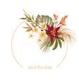 boho floral wedding frame watercolor vector image vector image