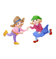 Cartoon dancing people vector image vector image
