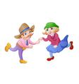 Cartoon dancing people vector image