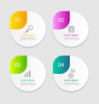 circle infographic elements layout 4 options vector image vector image