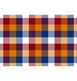 Colored check seamless fabric texture vector image vector image