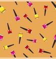colored nail polsh seamless pattern vector image vector image