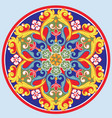 colorful ethnic round ornamental mandala vector image vector image