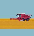 cool flat concept design on arable filed harvest vector image
