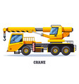 crane truck or construction and lifting machinery vector image vector image