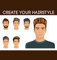 create change of hairstyle choices for men vector image vector image