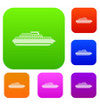 cruise ship set collection vector image vector image