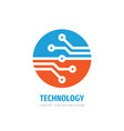 data digital logo design electronic tech vector image