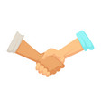 deal sign handshake agreement male hands with vector image