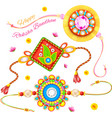 Decorative Rakhi for Raksha Bandhan vector image