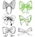 Drawn Bows vector image vector image