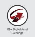 exchange - gbx digital asset exchange copy the vector image