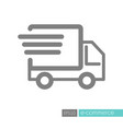 fast shipping delivery truck flat icon vector image