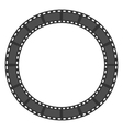 film strip round circle frame template design vector image vector image