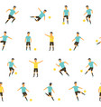 football soccer players vector image vector image