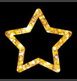 gold luxury fashion shiny star decorations for vector image vector image
