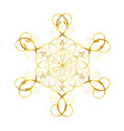 gold snowflake in oriental style vector image vector image
