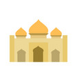 golden flat color islamic mosque building design vector image vector image