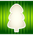 Green paper cut fir tree frame vector image
