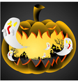 Halloween Pumpkin on black background vector image vector image