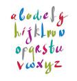 handwritten script alphabet letters set