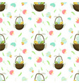 happy easter seamless pattern spring colorful vector image vector image