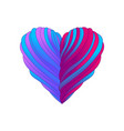 heart with ribbons for valentines day vector image