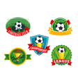 icons badges for football club championship vector image vector image