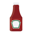 Ketchup bottle vector image vector image