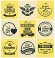 logotype badges and labels in retro style vector image vector image
