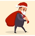 manager or businessman dressed in Santa vector image vector image