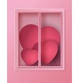 many heart inside the window vector image vector image